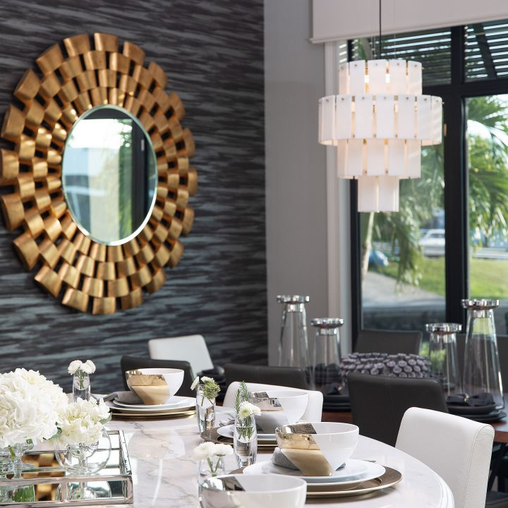 gold and neutral kitchen decor